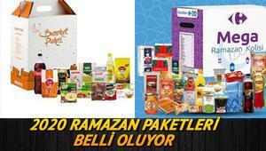 Marketlerin 2020 Ramazan paketlerinde neler var Migros, Carrefour, BİM, ŞOK, A101, Ramazan paketleri