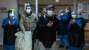 Tedavileri tamamlanan 2 hasta Cerrahpaşada alkışlarla taburcu oldu