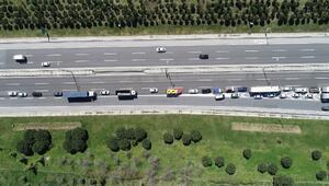 TEMde trafik denetimi: Kilometrelerce araç kuyruğu oluştu