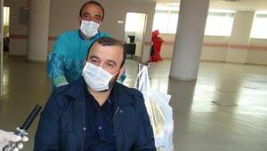 Hem koronavirüsü hem kalp krizini yendi