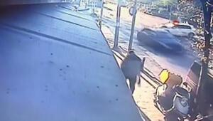 Mecidiyeköydeki kaza anı kamerada