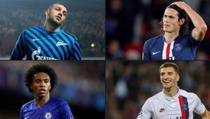 Ligler ertelendi, gözler kontratı bitecek futbolcularda Dzyuba, Cavani, Willian, Meunier...