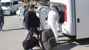Muğlada yurtta karantinada tutulan 150 kişi, evlerine gönderildi