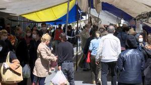 Beyoğlu ve Gaziosmanpaşada pazarlarda yoğunluk