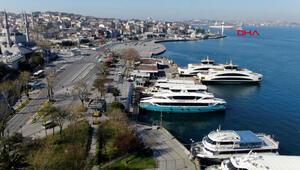 İstanbulun yasakla beraber boş kalan meydanları, havadan böyle görüntülendi