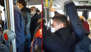 Metrobüsteki yoğunluk isyan ettirdi