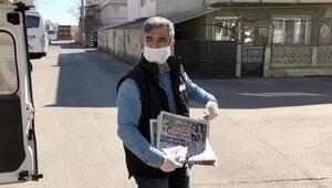 Çerkezköyde kuryeler gazeteleri okuyucularla buluşturdu