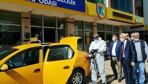 İzmirde taksiler bir ayda ikinci kez dezenfekte edildi