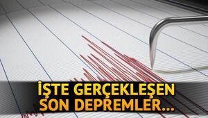 Manisada deprem oldu Son dakika Kandilli Rasathanesi son depremleri açıkladı