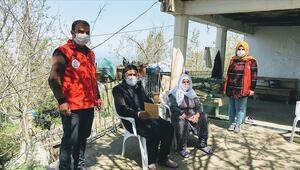 Devletin şefkat eli evden çıkamayan şehit aileleri ve gazilerin yanında