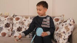 7 yaşındaki Mustafa, ok ve yay parasını kampanyaya bağışladı