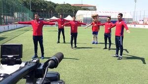 Altınordu'dan minik futbolculara videolu antrenman