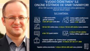 3 haftada online eğitim süresi 6 milyon 573 bin dakikayı geçti