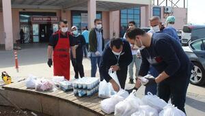 Esnaftan sağlık çalışanlarına kokoreç