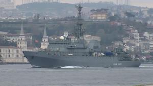 Rus savaş gemileri İstanbul Boğazından peş peşe geçti