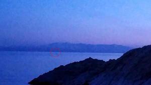 Görüntülediği cismi Van Gölü Canavarı sandı İşte o anlar...