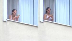 Mauricio Islanın eşi Gala Caldirola, KYK yurdunun penceresinde görüntülendi