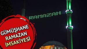 Gümüşhane iftar saatleri sahur ve vakitleri | 2020 Diyanet Gümüşhane Ramazan İmsakiyesi