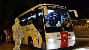 Almanyadan getirilen 355 kişi yurda yerleştirildi