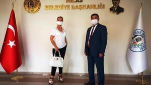 Gökova´ya yerleşen Seda Sayan´dan belediye başkanına ziyaret