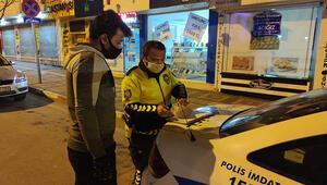 Bursada sokağa çıkma yasağının ilk saatlerinde ilk ceza kesildi