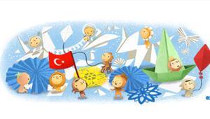 Googledan 23 Nisan Ulusal Egemenlik ve Çocuk Bayramına özel doodle - İşte 23 Nisanın tarihi