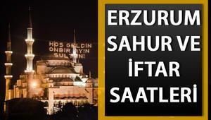 Erzurumda ilk sahur saat kaçta Diyanet Erzurum imsakiye bilgileri