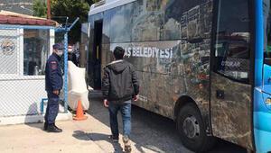 Kaş açıklarında 9 sığınmacı kurtarıldı