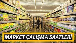 Marketler bugün saat kaça kadar açık Marketler saat kaçta kapanacak