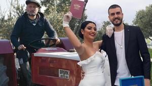 Hüsnü Şenlendirici İzmirdeki çiftliğinde oğlunu evlendirdi