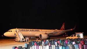 İsviçreden getirilen 155 Türk vatandaşı Amasyada yurda yerleştirildi