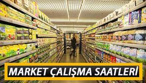 Pazar günü marketler açık mı Marketler saat kaçta açılıp, kaçta kapanacak