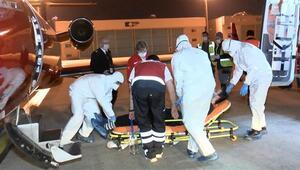 Rusyada ameliyat edilmedi Türk genci ambulans uçakla yurda getirildi
