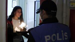 Polislerden, meslektaşlarının kızına sürpriz doğum günü
