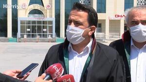 Kadir Şekerin avukatı ve Baro Başkanı Aladağdan adliye önünde açıklama