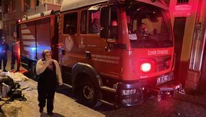 İzmirde 4 katlı binan zemin katında yangın çıktı: 1 yaralı