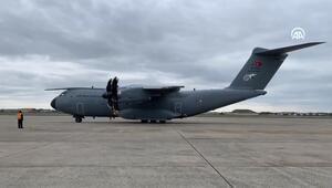 Türkiyenin tıbbi yardım malzemesi taşıyan askeri kargo uçağı ABDye ulaştı