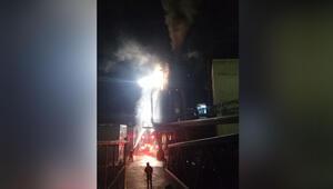 Fabrikada korkunç yangın