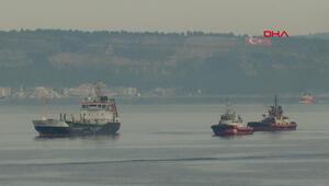 Çanakkale Boğazında makine arızası yapan tanker kurtarıldı