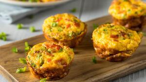 Sahura doyurucu bir öneri: Yumurtalı muffin