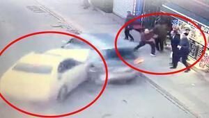 İstanbulda korkunç kaza Makas atarak geldi, insanların arasına daldı