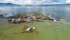 Erçek Gölünde su seviyesi yükseldi, kuş gözlem kuleleri su altında kaldı