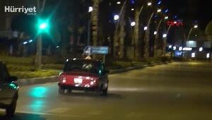 Savcı ve polisin gözü önünde drift atan sürücüye 6 bin 429 lira ceza