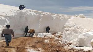 Antalyada 7 metre karla kaplı yollar açılıyor