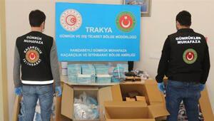 İzmir'de 15 ton etil alkol ve Edirne'de 5 bin 230 adet maske ile siperlik ele geçirildi