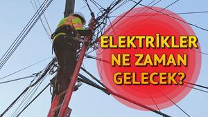 İstanbulda elektrikler ne zaman gelecek Elektrik kesinti listesi ve çalışma saatleri