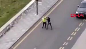 Polise saldıran sürücü hakkında işlem başlatıldı, saldırı anı kamerada