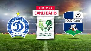 Belarus Liginin zirvesindeki Slutsk, Dinamo Minske konuk oluyor iddaada öne çıkan...