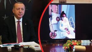 Son dakika haberler... Cumhurbaşkanı Erdoğan, Cerrahpaşada yatan hastalarla görüştü