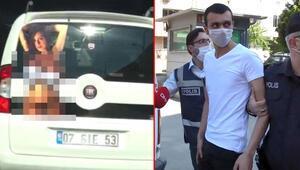 Bursada çıplak kadın şoku Gözaltına alındı...